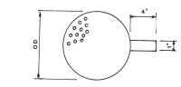 Perforated plates flat plate without ring (totally perforated)