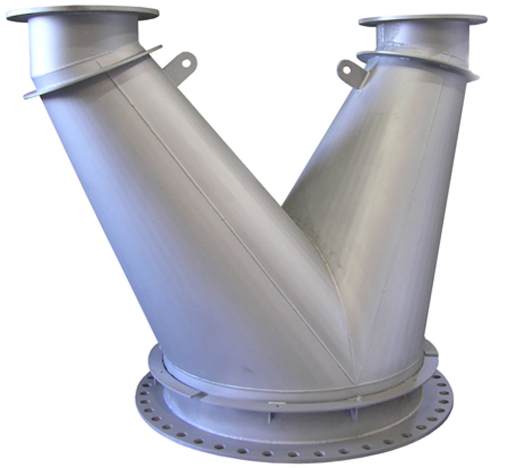 Engine exhaust duct spool to direct engine exhaust in a gas storage facility